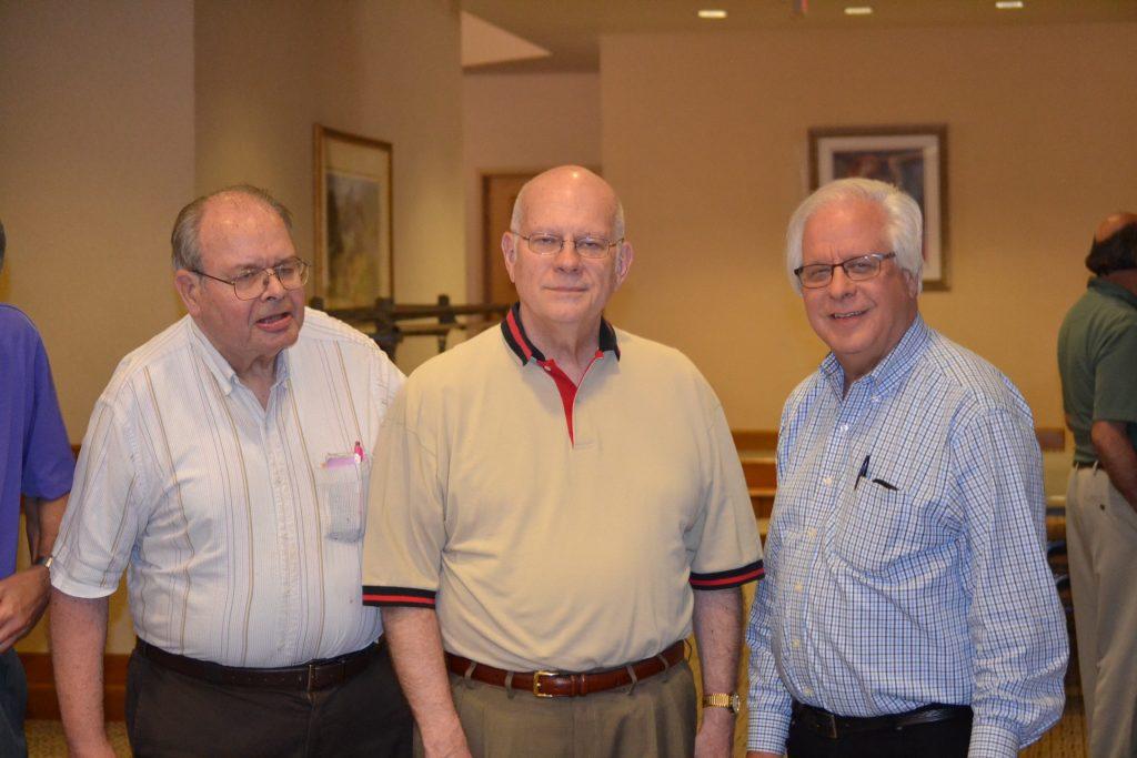 Representing the Class of 1977, From left to right, Rev. Paul F. Hurst, Rev. George C. Kunkel, Rev. Stephen P. Walter (CT Photo/Greg Hartman)