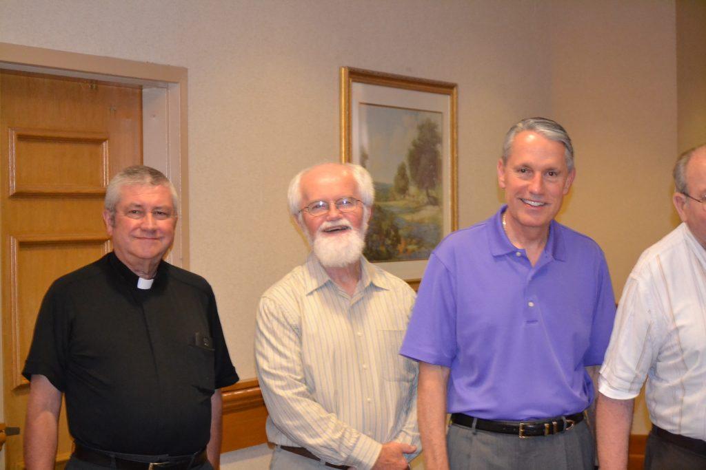 Representing the Class of 1977 from left to right, Rev. Larry R. Tharp, Rev. William R. Stockelman, Rev. Raymond E. Larger (CT Photo/Greg Hartman)