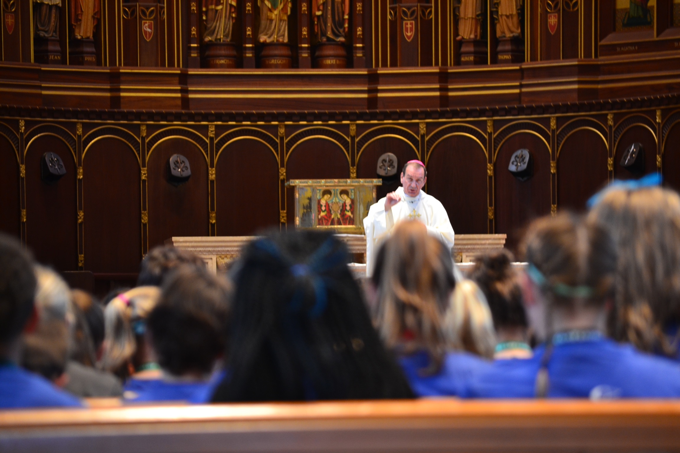 Archbishop Schnurr's Homily at Mass for teens at St. Gregory Chapel (CT Photo/Gail Finkie)