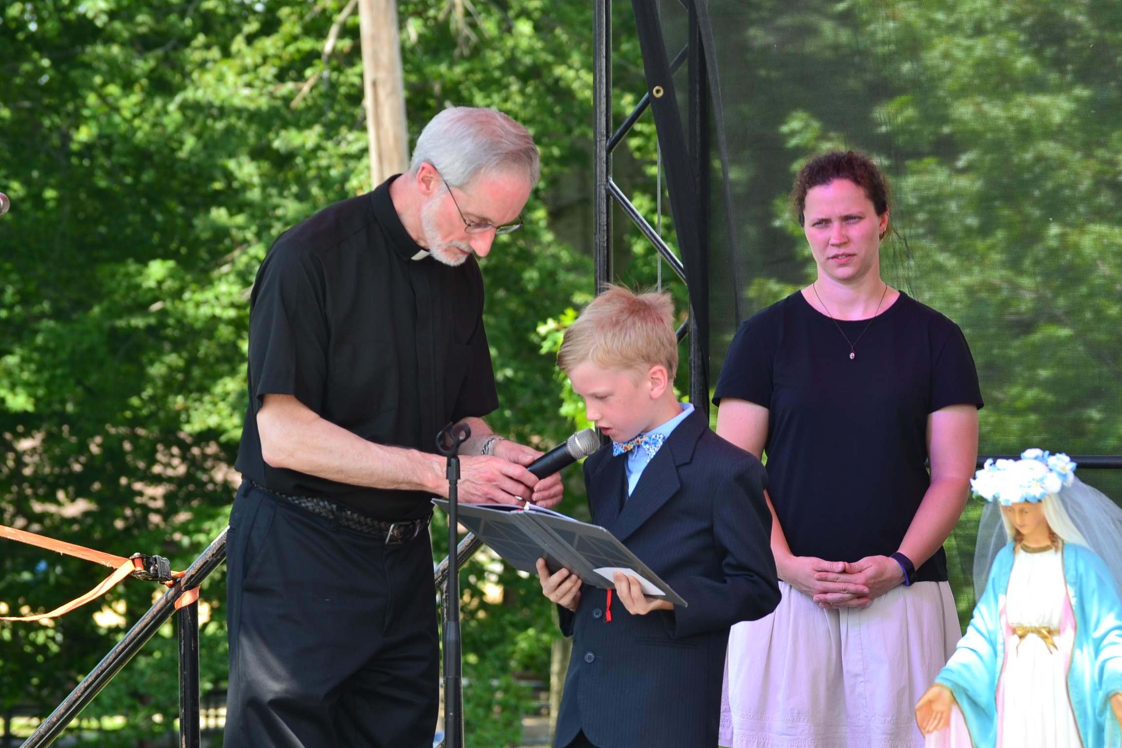 First Communicant from St. Catharine grade school (CT Photo/Greg Hartman)
