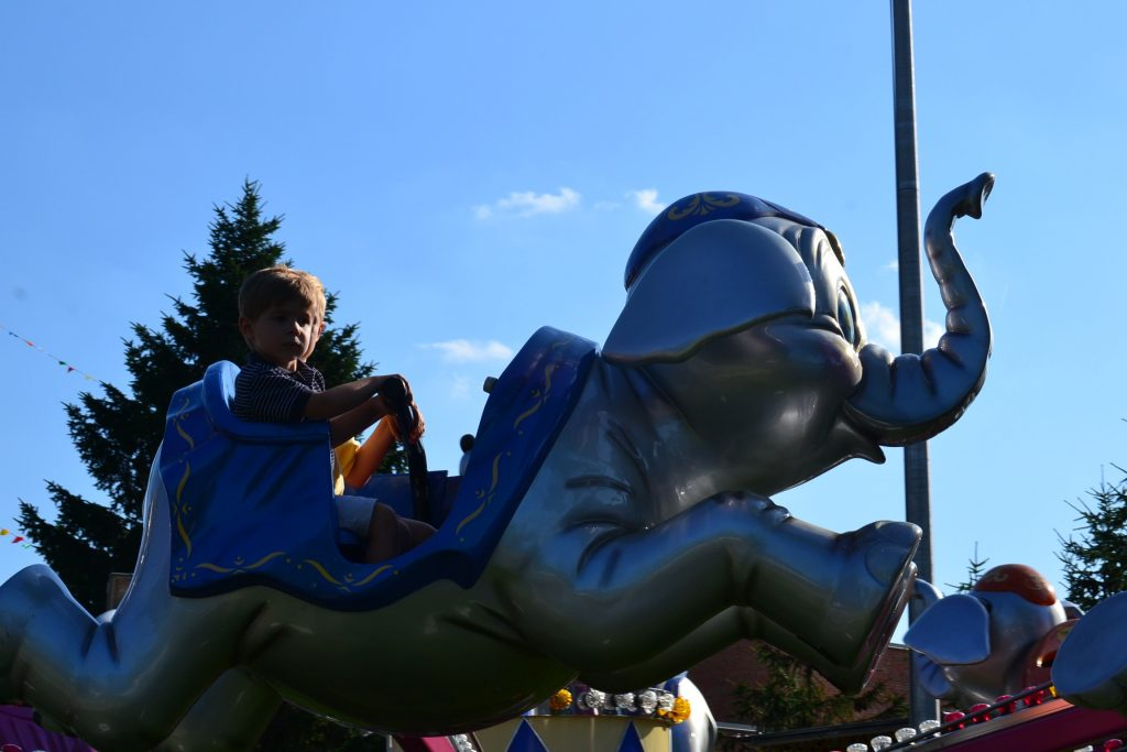 I'm in the air on an elephant! (CT Photo/Greg Hartman)