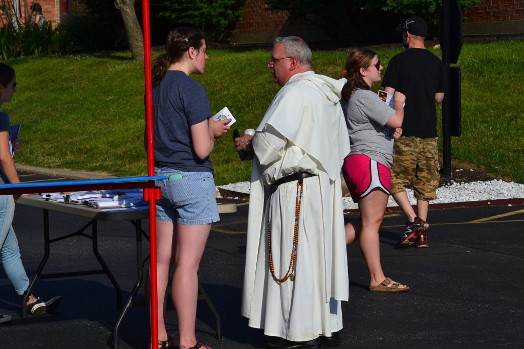 The Truth Booth was evangelizing throughout the St. Gertrude Festival. (CT Photo/Greg Hartman)