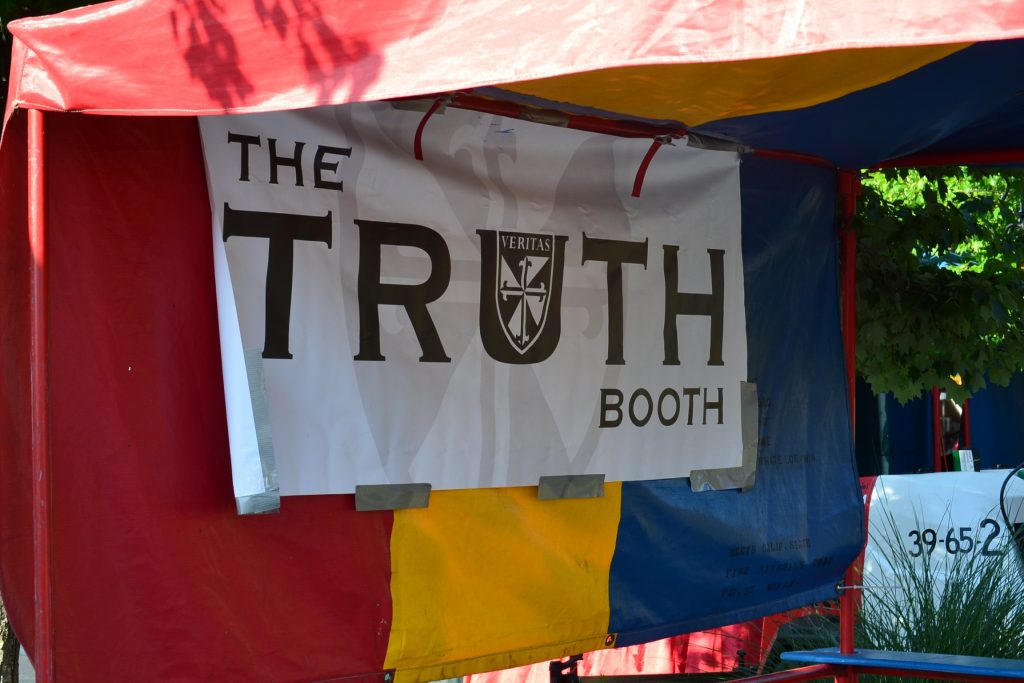 The Truth Squad is an important part of evangelization at the festival (CT Photo/Greg Hartman)