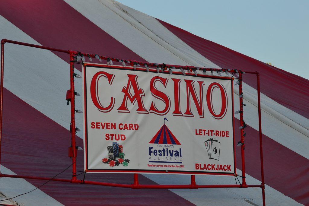 Heading to the Casino Tent (CT Photo/Greg Hartman)