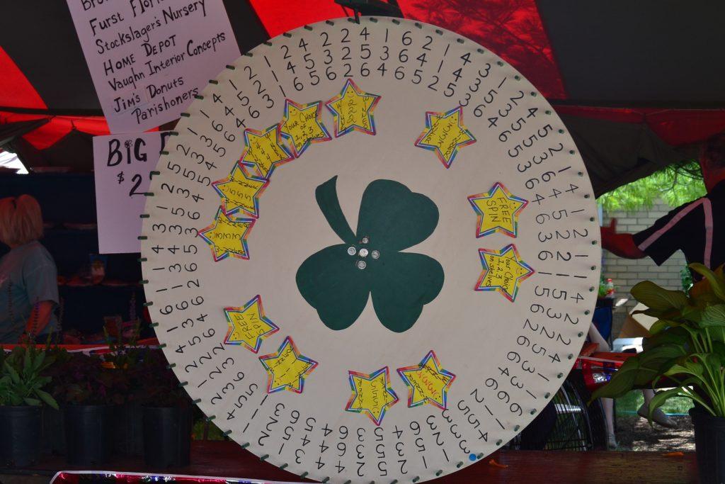 A prize wheel, Irish style (CT Photo/Greg Hartman)