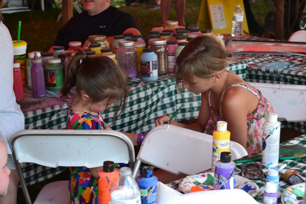 Just some paint, glitter, a few brushes and a day of fun (CT Photo/Greg Hartman)