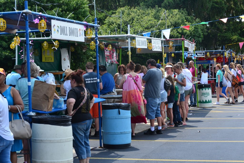 The Booths were busy at St. Helen's Festival (CT Photo/Greg Hartman)