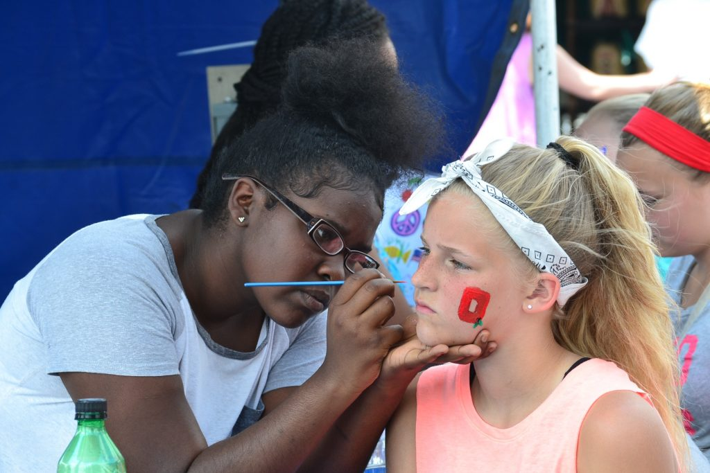 The art of face painting in full display (CT Photo/Greg Hartman)
