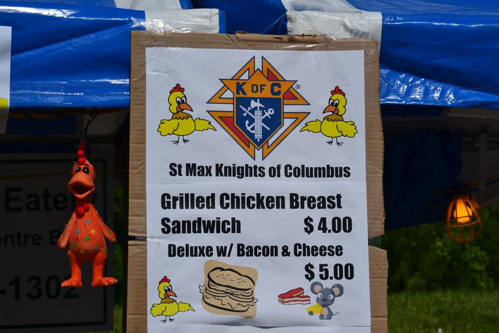 The Knights Menu (CT Photo/Greg Hartman)