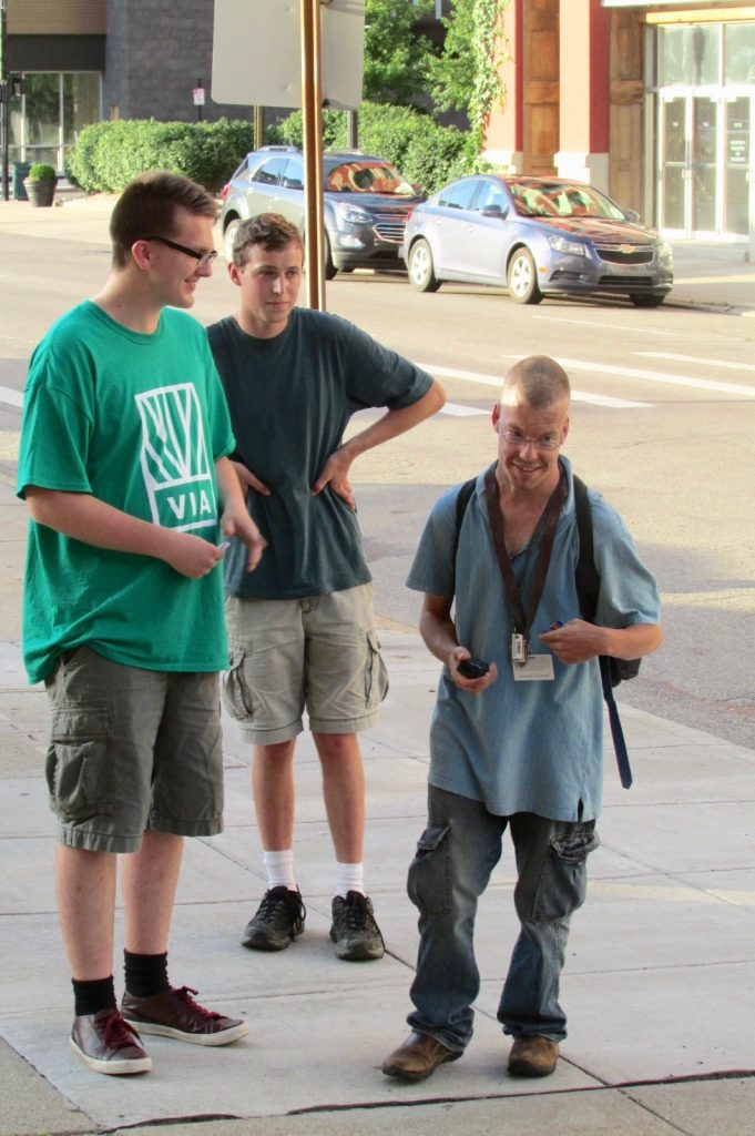 The experience of being a Missionary Disciple, inviting neighbors in prayer. (CT Photo/Gail Finke)