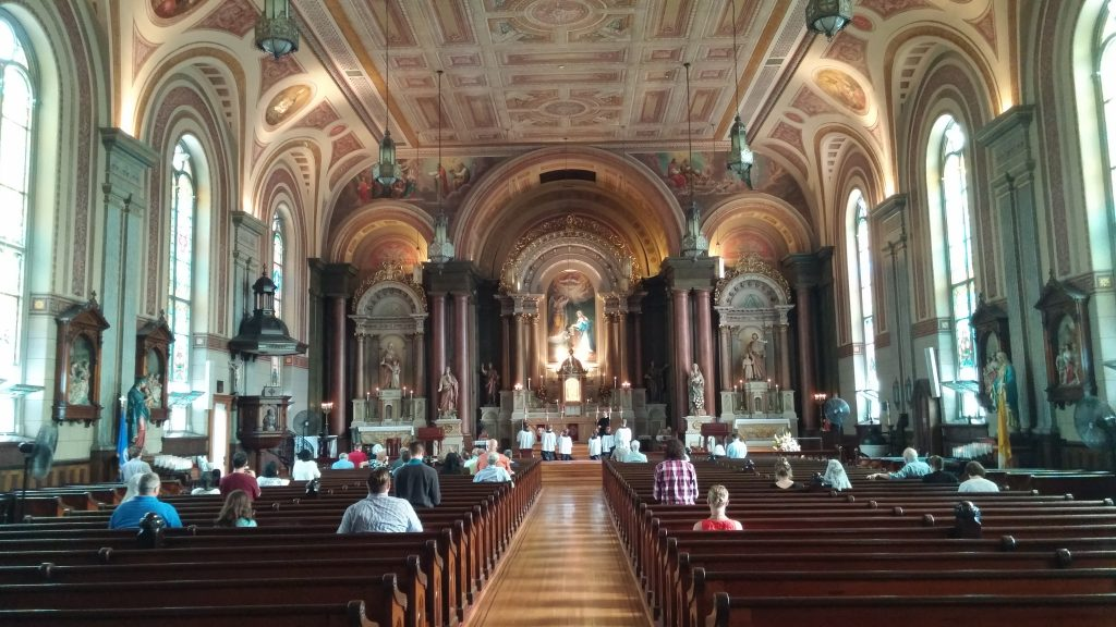 The oldest standing church in Cincinnati, the faithful began filling this sacred space (CT Photo/Greg Hartman