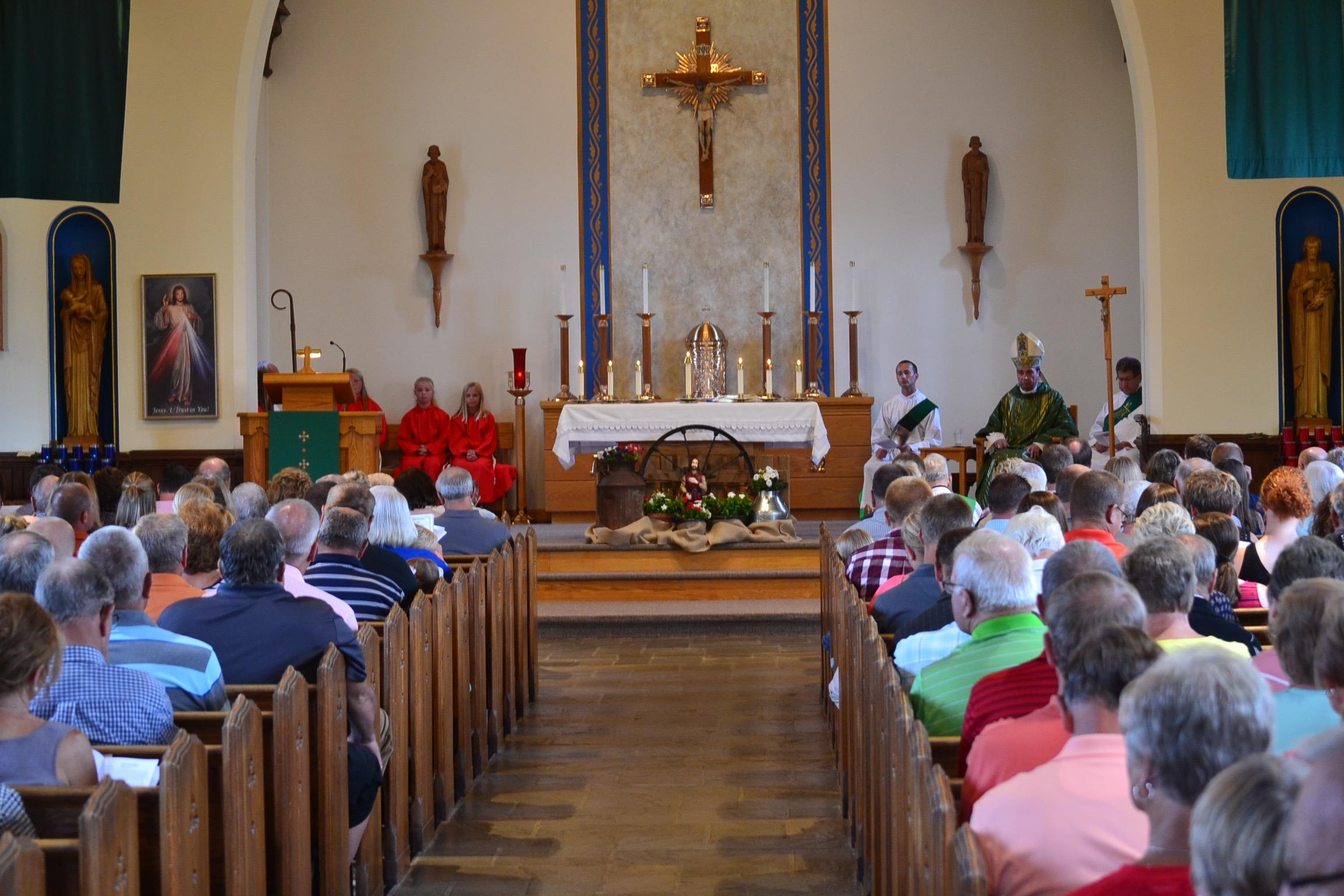 A full church for the Rural Farm Mass 2017 (CT Photo/Greg Hartman