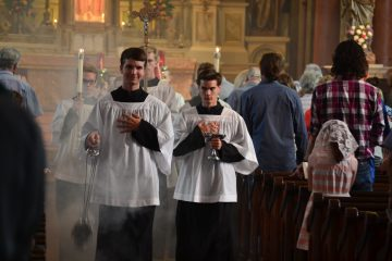 Recessional of the 175th Anniversary Mass (CT Photo/Greg Hartman)