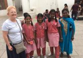 Sister Eileen Connelly meeting new friends in Chennai India. (Courtesy Photo)