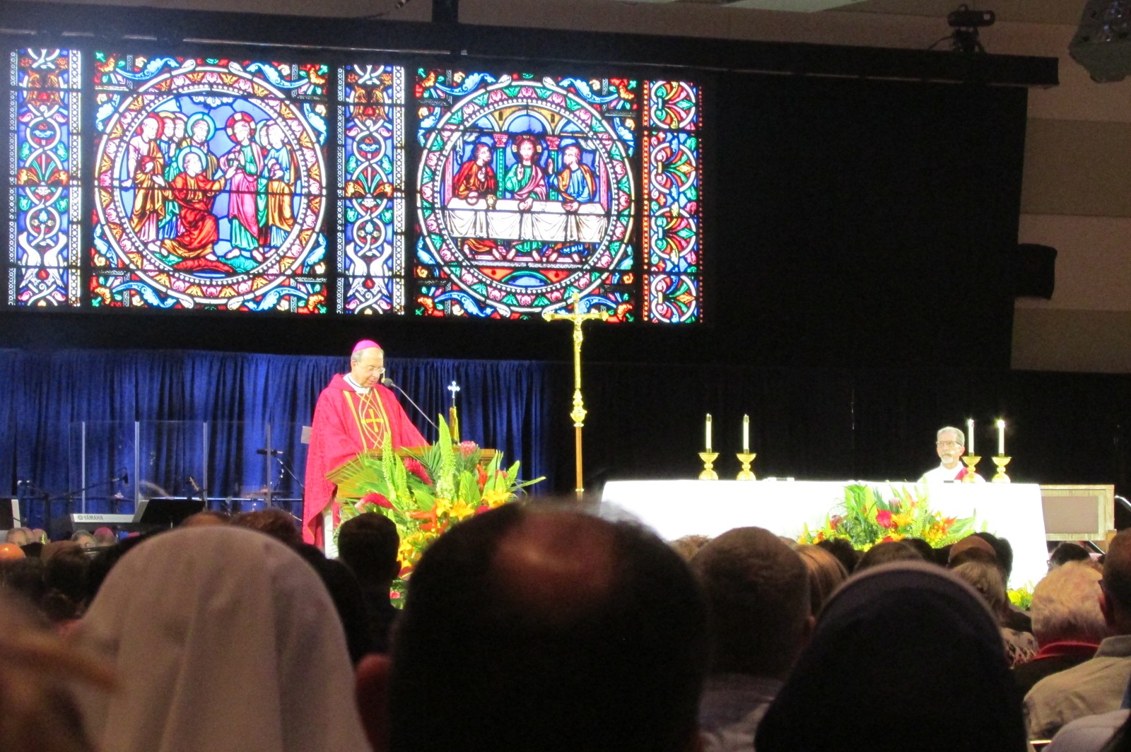 Archbishop William Lori (Baltimore) delivers a homily for the Fortnight for Freedom Mass on July 3 (CT Photo/Gail Finke)