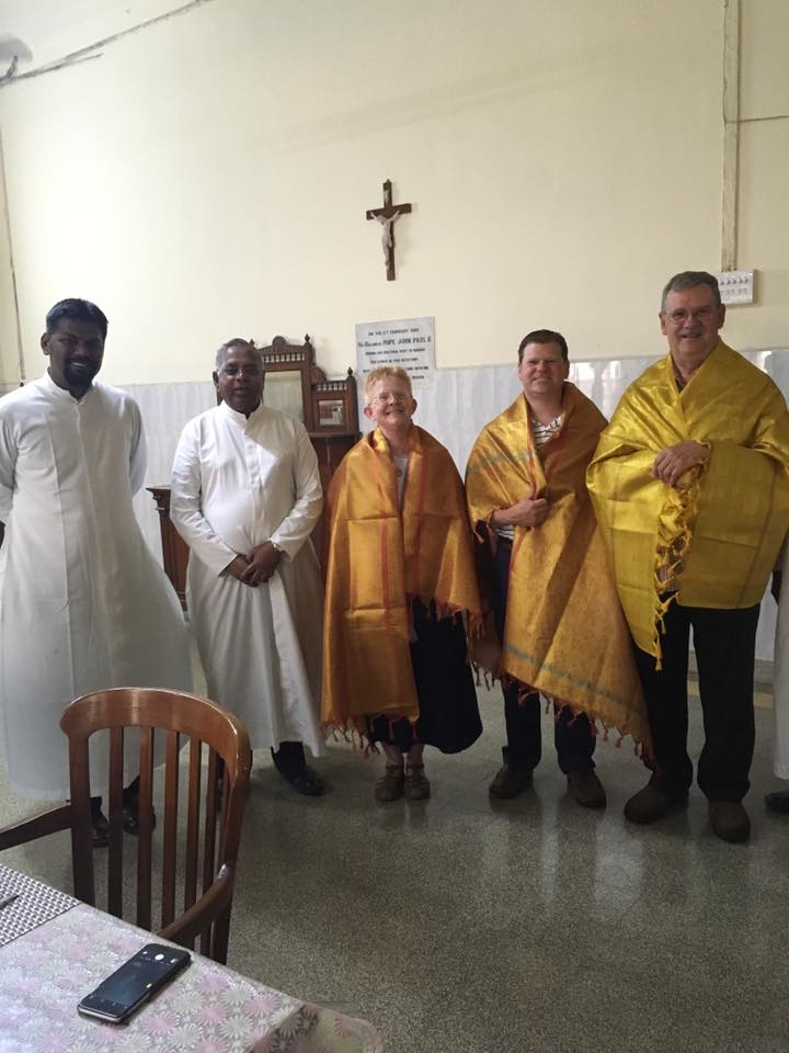 The group was warmly welcomed by priests of the Madras Diocese, where they are staying at the residence of the archbishop.