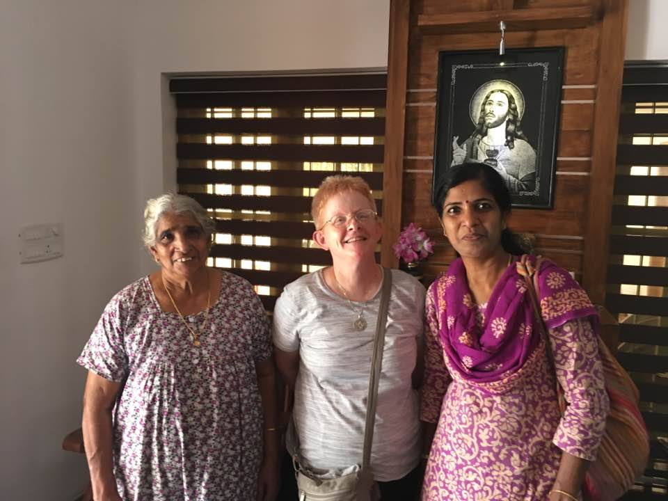 With Shobha, our hostess, and her mother-in-law Monica. (CT Photo/Sister Eileen)