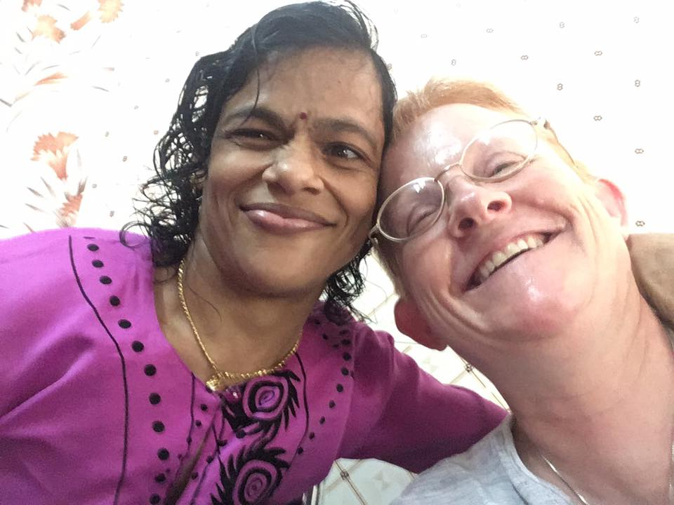Making new friends a half a world away in India. (CT Photo/Sister Eileen)