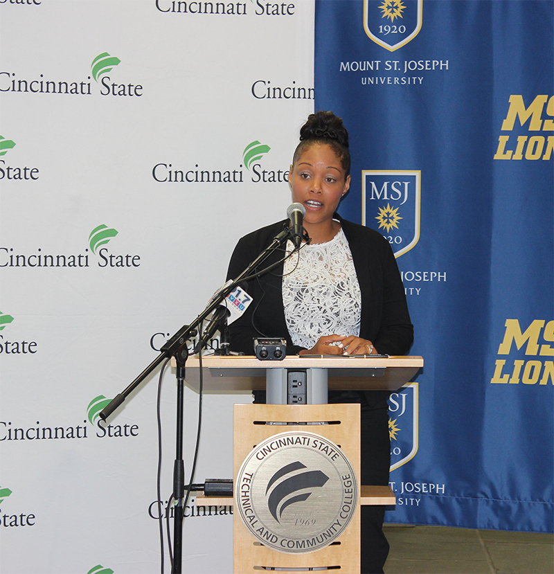 Katrina Blackwell, graduate of Cincinnati State and now a senior at Mount St. Joseph University earning her bachelor's degree in Education (Courtesy Photo)