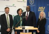 (l to r) Cincinnati State Provost Robbin Hoopes, JD; Cincinnati State President Dr. Monica J. Posey; Mount St. Joseph University President Dr. H. James Williams; Mount St. Joseph University Provost Dr. Diana Davis. (Courtesy Photo)