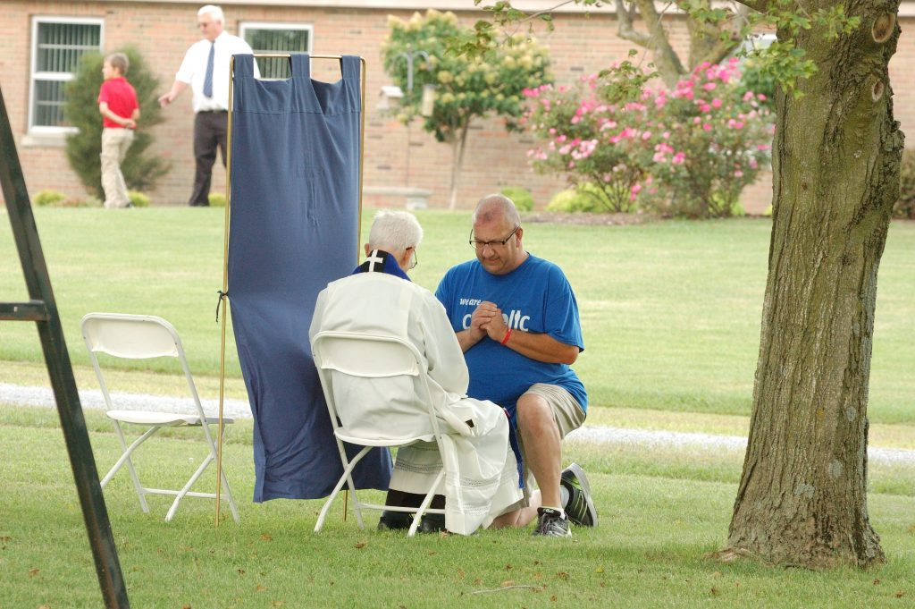 Confessions were heard on the grounds of Maria Stein (CT Photo/Jeff Unroe)