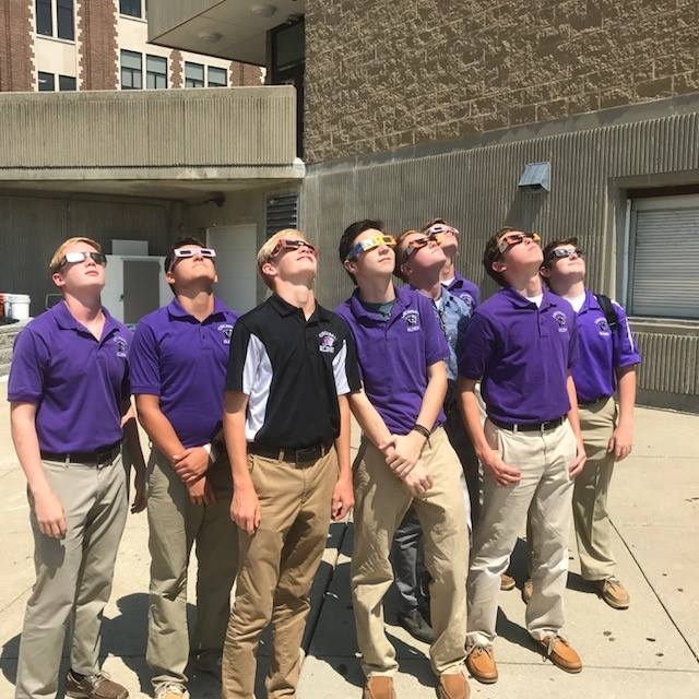 The Panthers check out the view on Eclipse Day 2017. (Courtesy Photo)