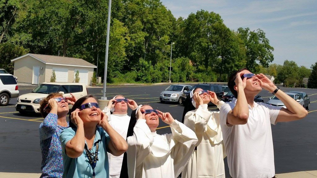The celestial event is observed at St. Gertrude (Courtesy Photo)