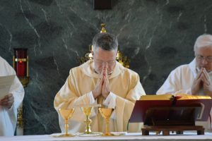 Archbishop Broglio praying (Courtesy Photo)