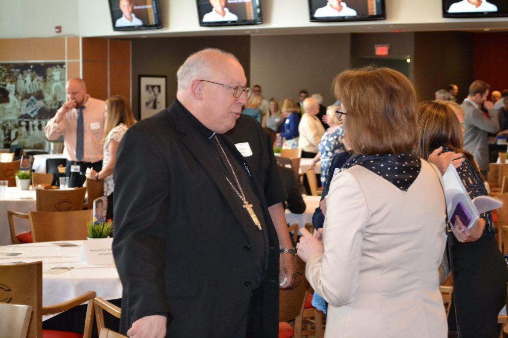 Bishop Joseph Binzer at the CISE Campaign Kickoff (CT Photo/Greg Hartman)
