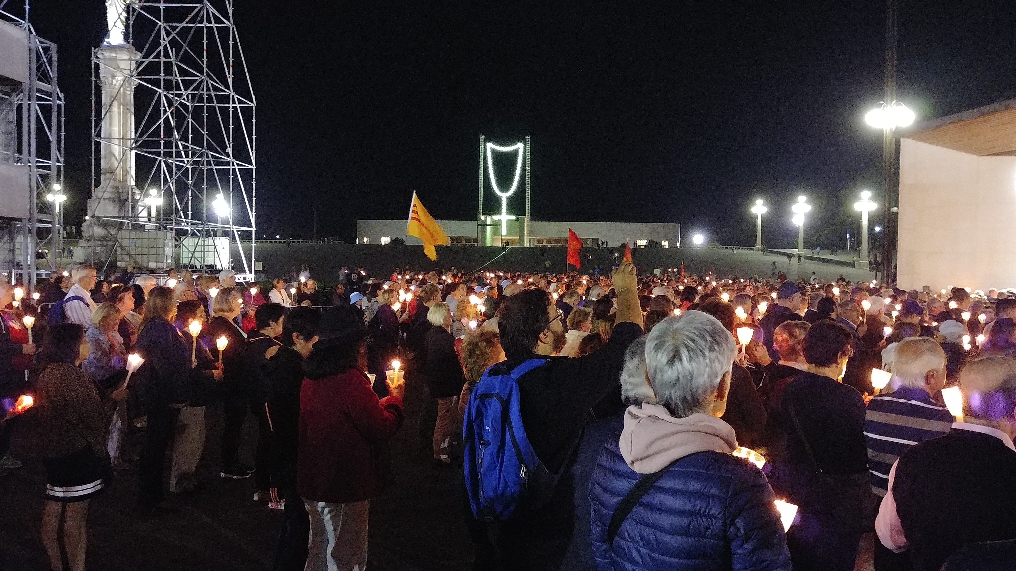 The faithful throughout the world descend nightly in Fatima for the procession. (CT Photo/Greg Hartman)