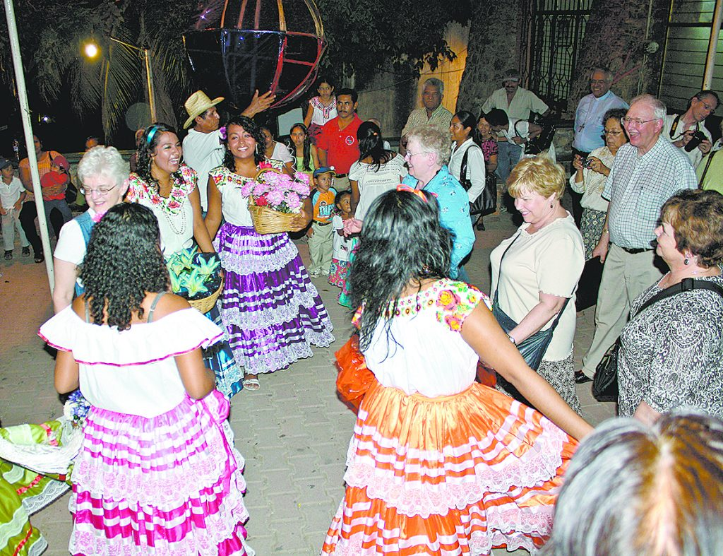 Visitors from the Archdiocese of Cincinnati celebrate the Feast of Our Lady of Soledad with locals in the Diocese of Puerto Escondido, on the Pacific coast of Mexico. (Courtesy Photo)