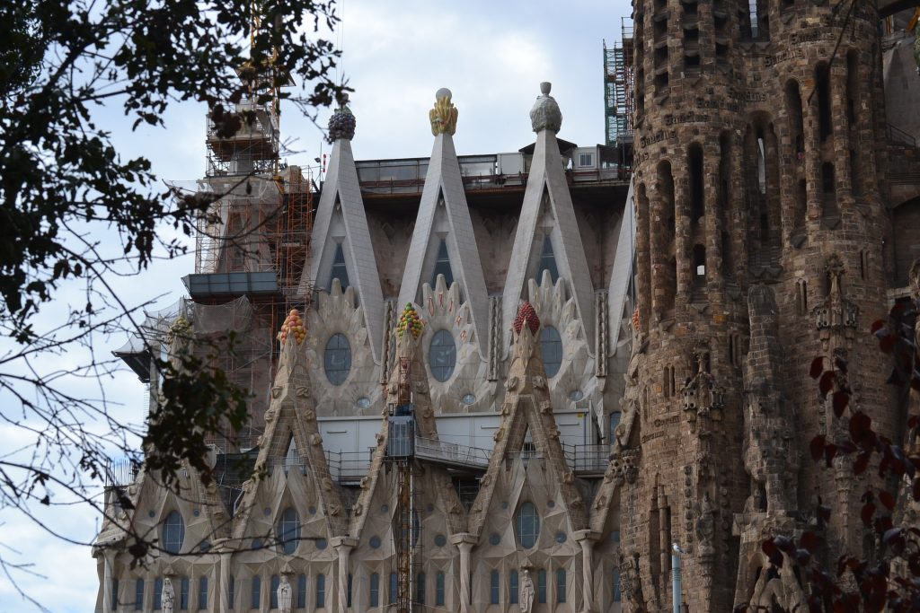 Exterior of Anton Gaudi's Basilica in Barcelona (CT Photo/Greg Hartman)