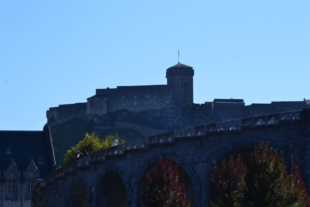 The Chateau Fort de Lourdes towers over the town Lourdes. This fortress began in the 11th Century (CT Photo/Greg Hartman)