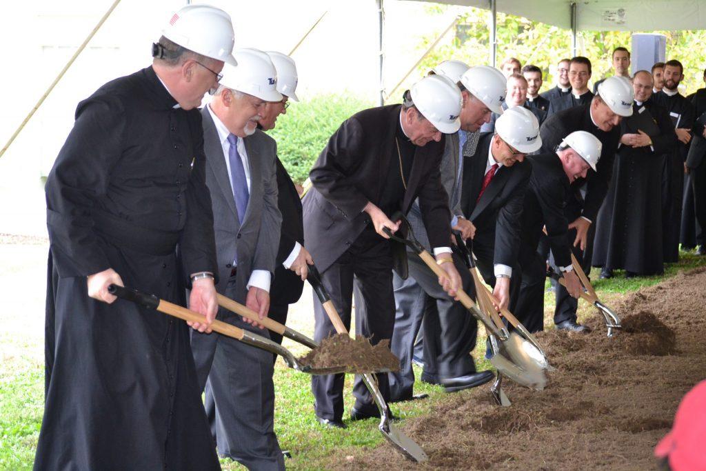 Groundbreaking for the addition to Mount Saint Mary's Seminary, November 2, 2017 (CT Photo/Greg Hartman)