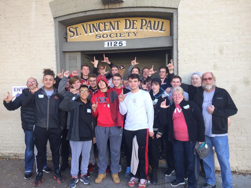 LaSalle High School students volunteer time at St. Vincent DePaul