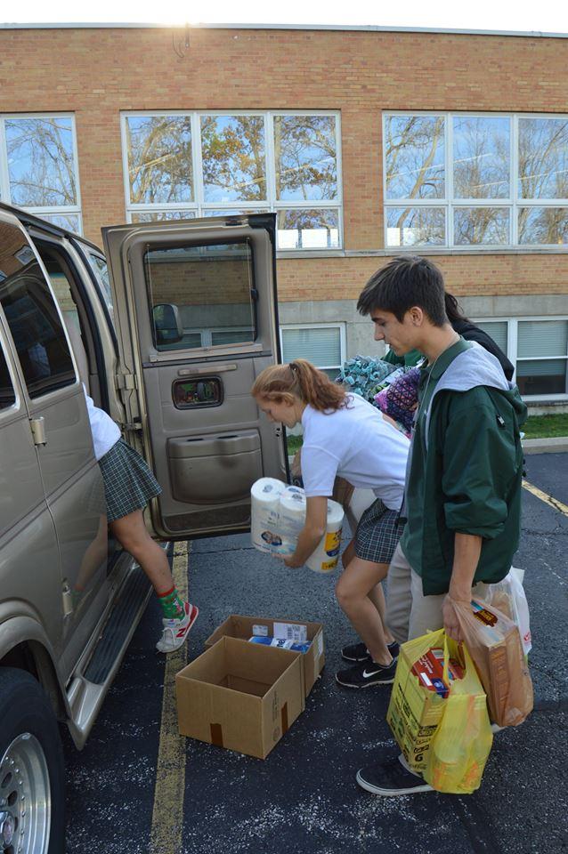 McNicholas High School students giving back