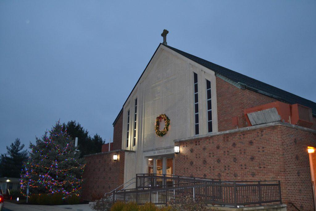 In the quiet and solitude at St. Thomas More parish (CT Photo/Greg Hartman)
