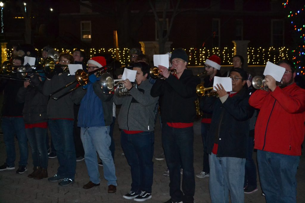 On a cold December night, UD Band warms the hearts with a Christmas Medley (CT Photo/Greg Hartman)