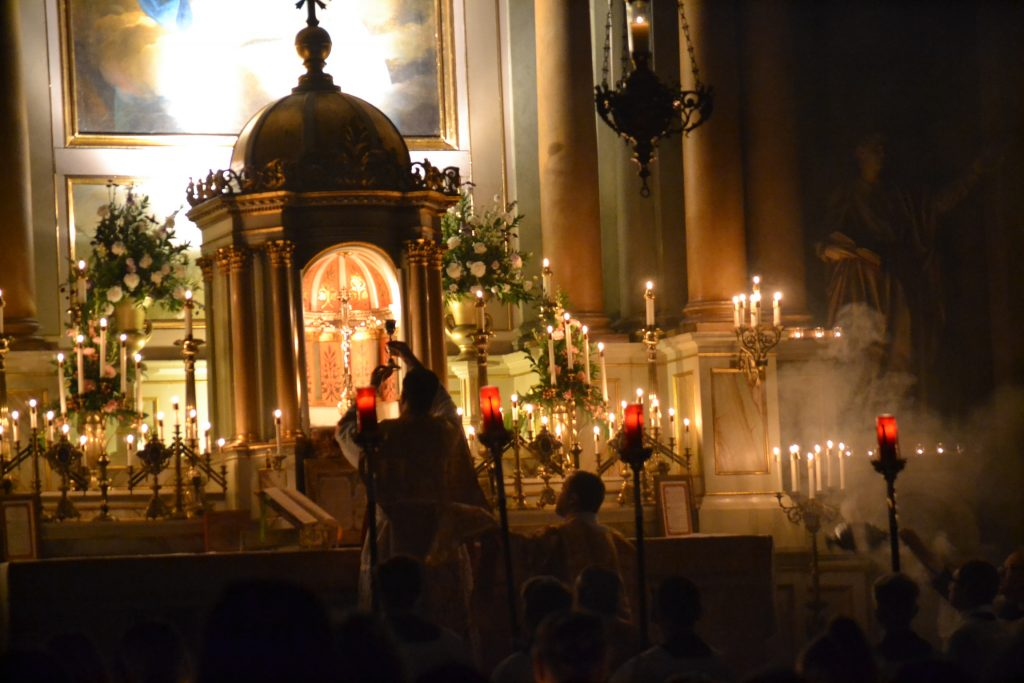Consecration of the Blood of Christ (CT Photo/Greg Hartman)