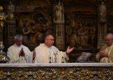 Father Jan Schmidt at the Basilica of the Pilar in Zaragosa Spain (CT Photo/Greg Hartman)
