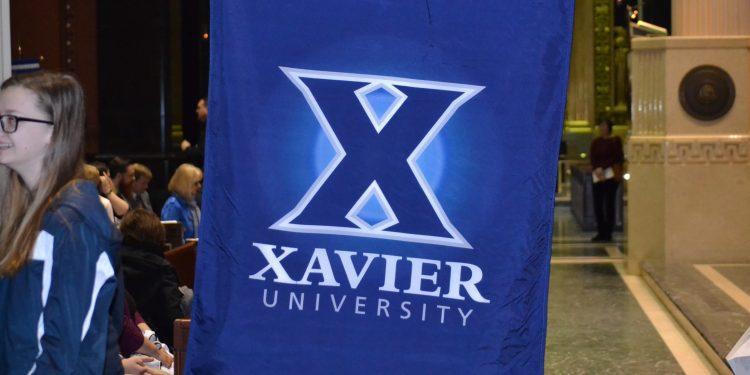 Xavier University represented at the 2018 Catholic Schools Week Mass (CT Photo/Greg Hartman)