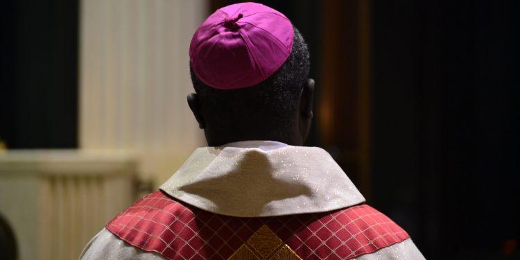 Bishop Emmanuel Abbo of Cameroon at the 2018 Catholic Schools Week Mass. (CT Photo/Greg Hartman)