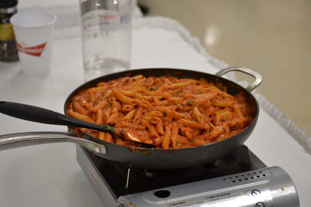 Father Leo's finished Vodka Penne (CT Photo/Greg Hartman)