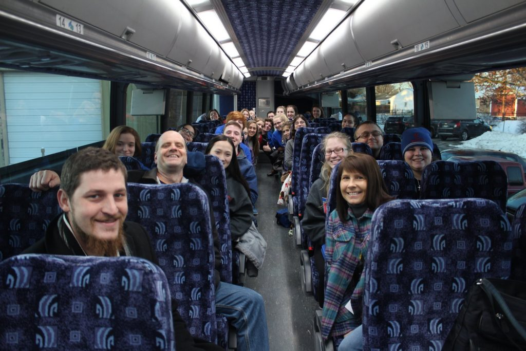 Carroll High School Students on the way to Washington March for Life (Courtesy Photo)