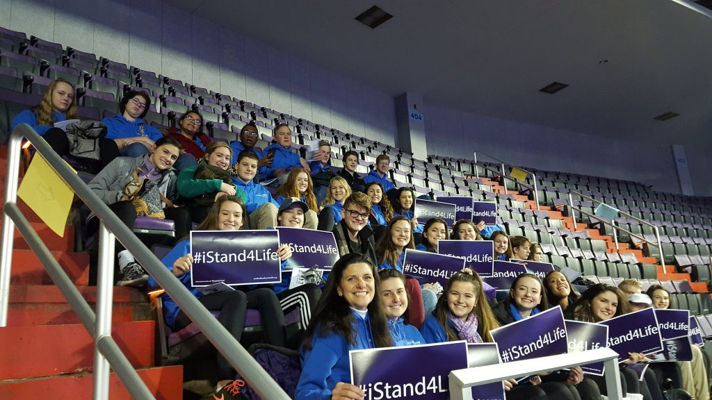 Chaminade Julienne students at the Youth Rally for the March for Life (Courtesy Photo)