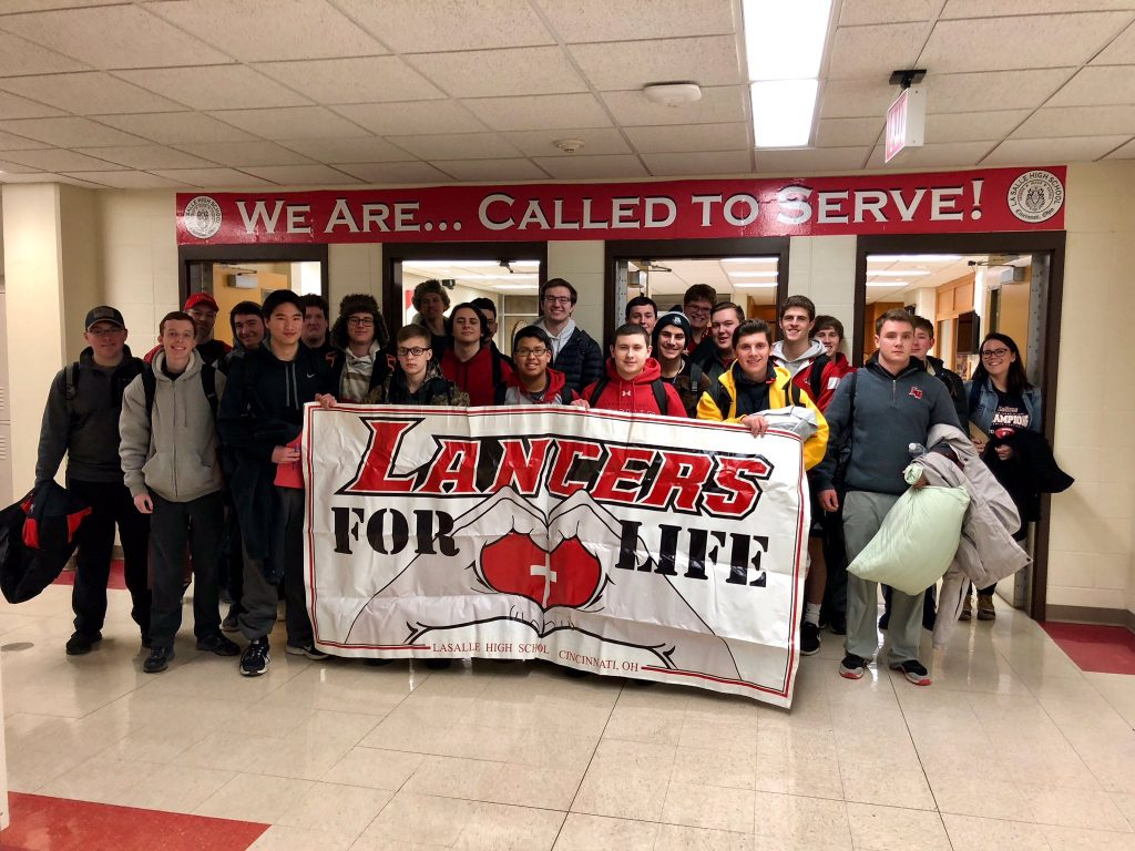 LaSalle High School students ready for departure for the March for Life Rally (Courtesy Photo)
