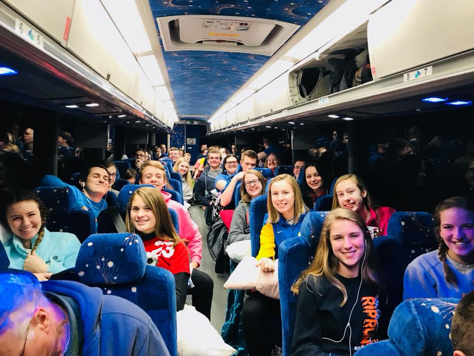 Lehman High School Students travelling to DC for the March for Life Rally 2018 (Courtesy Photo)