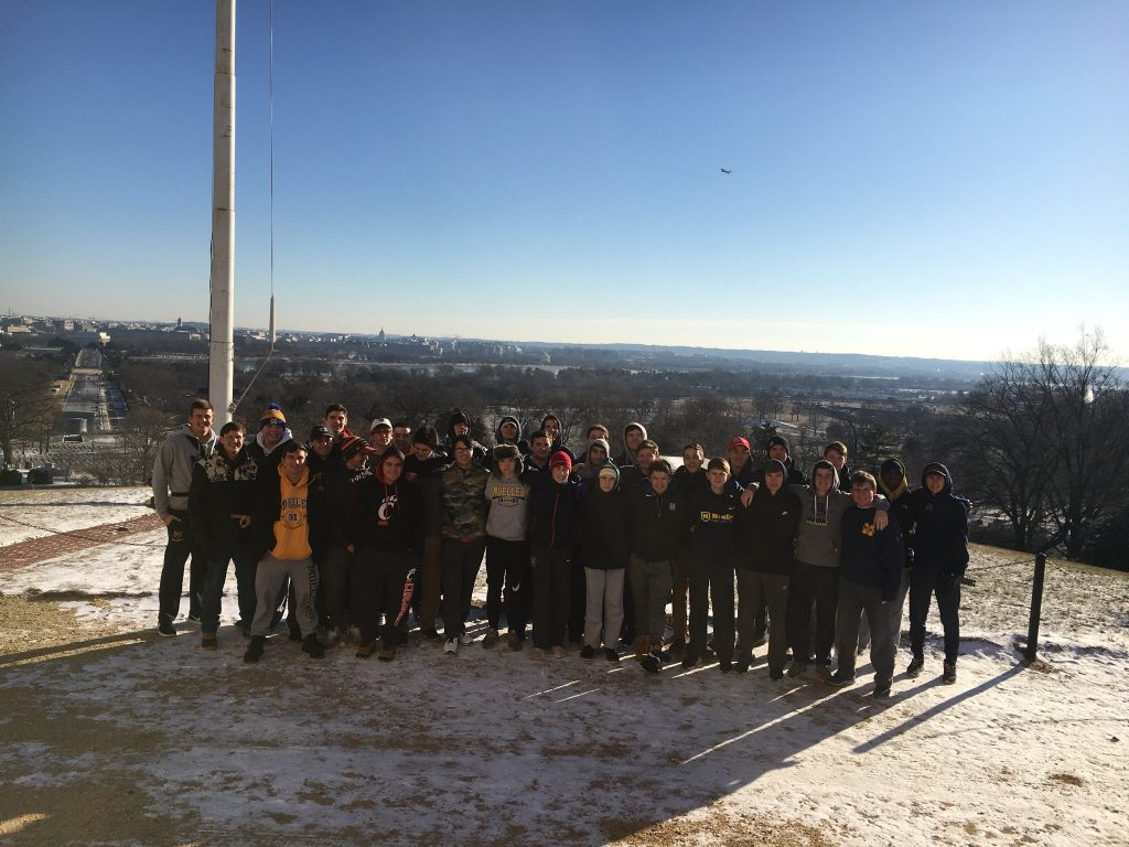 Men of Moeller in Washington DC before the March for Life 2018 (Courtesy Photo)