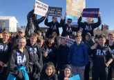 Students from Royalmont Academy arrive at the 2018 March for Life (Courtesy Photo)
