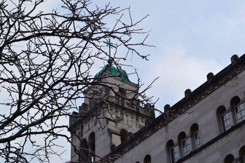 St. Louis Church Downtown Cincinnati on a wintry day. (CT Photo/Greg Hartman)
